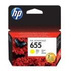 Cartridge HP Inkjet No 655 Yellow (600p) - HP
