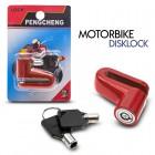 Disklock - Κλειδαριά Μηχανής Κόκκινη 0120.033