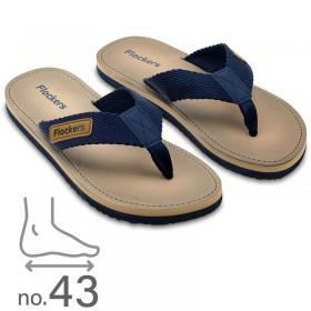 Σαγιονάρα Ανδρική με Ανατομική Σόλα Μπεζ-Μπλε No43 0321.458
