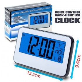 Voice Control Back-Light LCD Clock Ρολόι Ξυπνητήρι 0620.028