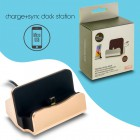 Docking Station Micro Usb Charge-Data Gold 1018.023