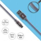 Καλώδιο Φόρτισης-Δεδομένων Micro Usb 26cm Γκρι 1018.109