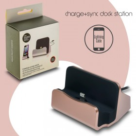 Docking Station Lightning Cable Charge-Data Pink 1018.343
