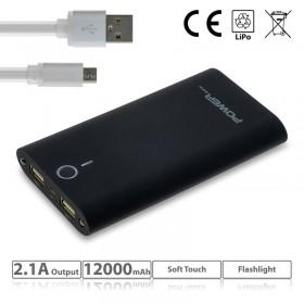Powerbank 12000mAh with flashlight 1218.215
