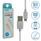 MUJU Καλώδιο Φόρτισης - Δεδομένων USB to Micro Usb 1m White 1218.169