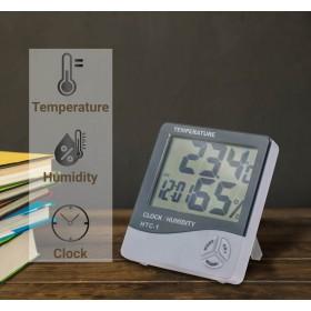 Ψηφιακό Ρολόι Θερμόμετρο-Υγρόμετρο HTC-1 1218.325