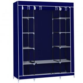 Φορητή υφασμάτινη ντουλάπα Herzberg HG-8009-BL Μπλε HG-8009-BL
