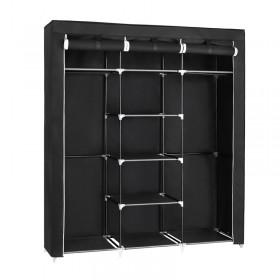 Φορητή υφασμάτινη ντουλάπα Herzberg HG-8011-BLK Μαύρη HG-8011-BLK