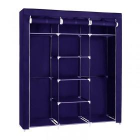 Φορητή υφασμάτινη ντουλάπα Herzberg HG-8011-BL Μπλε HG-8011-BL