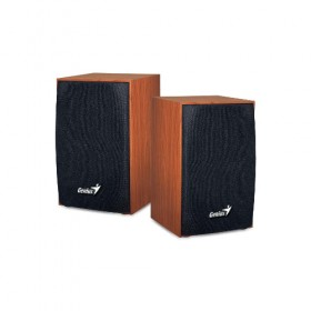 GENIUS SPEAKERS 1WAY, 2.0CH, 04W, WOODEN, BROWN, USB POWER SPHF160-Genius