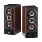 GENIUS SPEAKERS 3WAY, 2.0CH, 20W, WOODEN, BROWN, V+T/C SPHF800A/V2-Genius