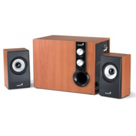 GENIUS SPEAKERS 1WAY, 2.1CH, 32W, WOODEN, BROWN, V+B/C SWHF21/1205/BR-Genius