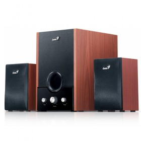 GENIUS SPEAKERS 2WAY, 2.1, 45W, BROWN, WOODEN ALL, 1LINE-IN SWHF21/1700/BR-Genius