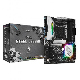 ATX AM4/AMD-B450 4DDR4 2PCIE16X 4PCIE1X GL HDMI DP B450/STEEL/LEGEND-Asrock