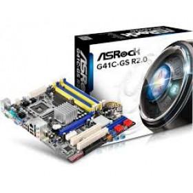 M-ATX S775/G41 VGA 2DDR2+2DDR3 2PCI 1PCIE16X S2 GLAN G41C/GS/R2-Asrock