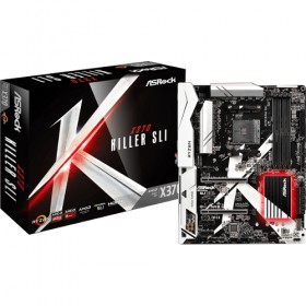 ATX AM4/AMD-X370  4DDR4 2PCIE16X 4PCIE 1X HDMI X370KILLER/SLI-Asrock