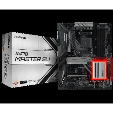 ATX AM4/AMD-X470 DDR4 2PCIE-x16 4PCIE-x1 ULTRA-M.2 S3R HDMI X470MASTER/SLI-Asrock