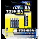 BATTERY BLUE ALKALINE AA 1,5V 6PACK LR6/BP6-Toshiba