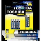 BATTERY BLUE ALKALINE AA 1,5V 6PACK LR6/BP6-Toshiba