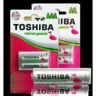 BATTERY RECHARGABLE AA 2000mAH 4PCS BLISTER PACK NI-MH RE/AA/BP4-Toshiba