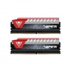 PE0431, PATRIOT VIPER ELITE DDR4, 2X08GB, 2400MHz, RED D4/2X08/240/VER-Patriot