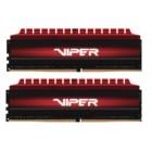 PE0413, PATRIOT VIPER 4 DDR4, 2X08GB, 3000MHz, RED D4/2X08/300/V4R-Patriot