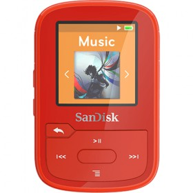 SDMX28-016G-G46R,Clip Sport Plus,Red,Global SDMX28/016G/G46R-SanDisk