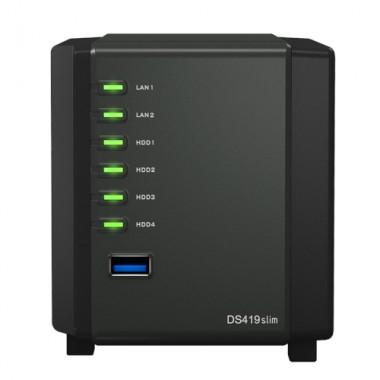 NAS/SOHO CPU_DC1.33GHz 0512MB 42.5 2U3 2GL DS419SLIM-Synology