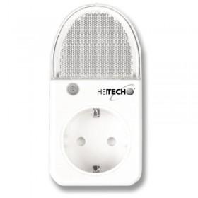 Heitech 04002293 Πρίζα σούκο και φωτάκι νυκτός LED με αισθητήρα φωτεινότητας - HEITECH