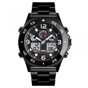 Ψηφιακό/αναλογικό ρολόι χειρός – Skmei - 1538 - Black
