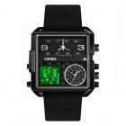 Ψηφιακό/αναλογικό ρολόι χειρός - Skmei - 1584 - Black II