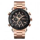 Ψηφιακό/αναλογικό ρολόι χειρός – Skmei - 1636 - Gold/Black