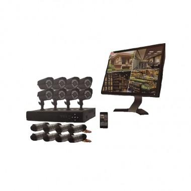 Ενσύρματο καταγραφικό δικτύου CCTV με 8 κάμερες - 020248