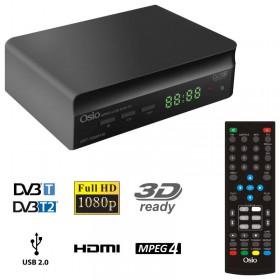 OSIO OST-7085FHD DVB-T/T2 FULL HD MPEG-4 USB 3D EΠIΓEIOΣ ΨHΦIAKOΣ ΔΕΚΤΗΣ ΜΕ ΕΝΑ ΤΗΛΕΧΕΙΡΙΣΤΗΡΙΟ ΓΙΑ TV & ΔΕΚΤΗ - OSIO