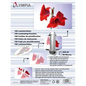 Olympia 9168 Φύλλα πλαστικοποίησης για Α6 σε κουτί 80 microns 100 τμχ - OLYMPIA
