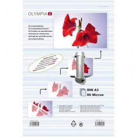 Olympia 9182 Φύλλα πλαστικοποίησης για Α3 σε κουτί 80 microns 25 τμχ - OLYMPIA