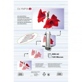 Olympia 9183 Φύλλα πλαστικοποίησης για Α3 σε κουτί 125 microns 25 τμχ - OLYMPIA
