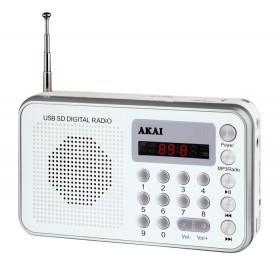 AKAI DR002A-521 ΑΣΠΡΟ ΡΑΔΙΟ USB ΦΟΡΗΤΟ - AKAI