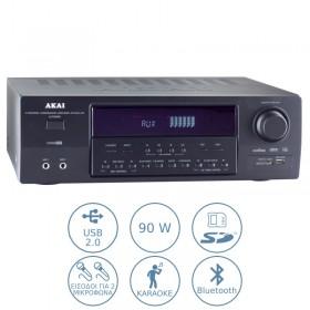 Akai AS110RA-320BT Ραδιοενισχυτής karaoke με Bluetooth και USB – 90 W - AKAI
