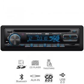 AKAI CA003A-6113U ΡΑΔΙΟ CD ΑΥΤΟΚΙΝΗΤΟΥ ΜΕ BLUETOOTH, USB, SD ΚΑΙ AUX-IN - AKAI