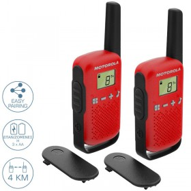 MOTOROLA TALKABOUT T42 WALKIE TALKIE 4KM ΚΟΚΚΙΝΟ - MOTOROLA