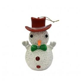 Χριστουγεννιάτικο στολίδι - Χιονάνθρωπος - 10cm - XR8481