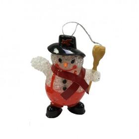 Χριστουγεννιάτικο στολίδι - Χιονάνθρωπος - 10cm - XR8483