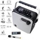 Akai ABTS-T5 Φορητό ηχείο Bluetooth karaoke με ραδιόφωνο, USB, micro SD και ασ. μικρόφωνο – 30 W RMS - AKAI