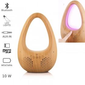 Akai ABTS-V8 Ηχείο Bluetooth και πολύχρωμο φως με micro SD και Aux-In – 10 W - AKAI