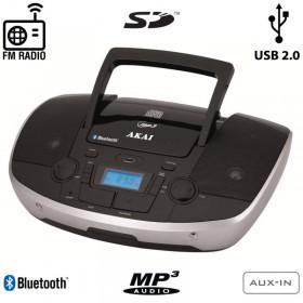 Akai APRC-108 Φορητό HiFi με Bluetooth, CD, USB για φόρτιση συσκευών, κάρτα SD και Aux-In - AKAI