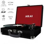 Akai ATT-E10 Πικάπ βαλίτσα με εγγραφή σε USB / κάρτα SD και ενσωματωμένα ηχεία 3 W - AKAI
