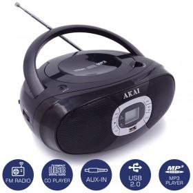 AKAI BM004A-614 ΦΟΡΗΤΟ ΡΑΔΙΟΦΩΝΟ ΜΕ CD, USB ΚΑΙ AUX-IN - AKAI