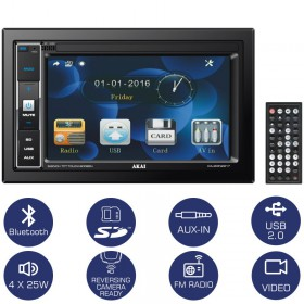 Akai CA-2DIN2217 Ηχοσύστημα αυτοκινήτου 22 DIN με Bluetooth, USB, κάρτα SD και οθόνη 6.2″ - AKAI