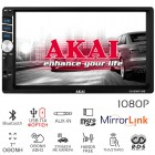 Akai CA-2DIN7135S Ηχοσύστημα αυτοκινήτου 2 DIN με Bluetooth, Mirrorlink, USB, κάρτα SD, Aux-In, 7″ - AKAI